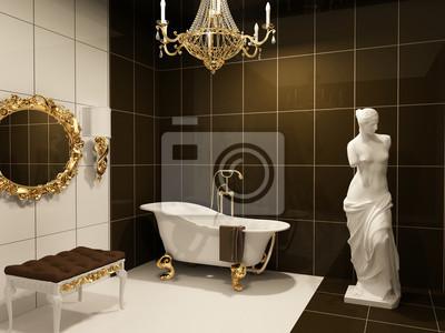 meubles de luxe avec la statue de venus dans le style baroque images myloview