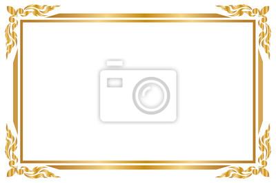 Cadre Decoratif Et Bordure Pour La Conception De Mariage De Carte Autocollants Murales Modele Ornement Decoratif Myloview Fr
