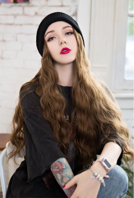 🔥Fashion wig knitted hat🔥--20% Off(2 Pcs Or More)--30% Off(3 Pcs Or More)