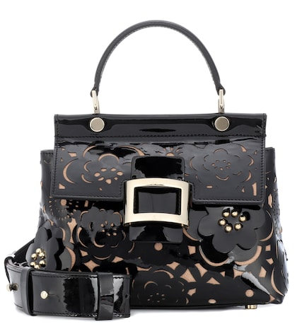 Viv' Cabas Small patent leather tote