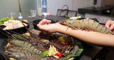 雲林斗六美食》七品鍋物。超級蝦!比手掌還大的手臂蝦,完全是痛風鍋,20oz肉片吃到爽