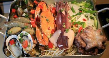 【苗栗市美食】Omaya春川炒雞❤哇靠~宛如一艘滿載海鮮的漁船,每日限量供應!韓國釜山巨無霸海鮮盆,海鮮盆想吃要先預訂。(苗栗地區唯一指定專賣店/韓式料理/苗栗美食)
