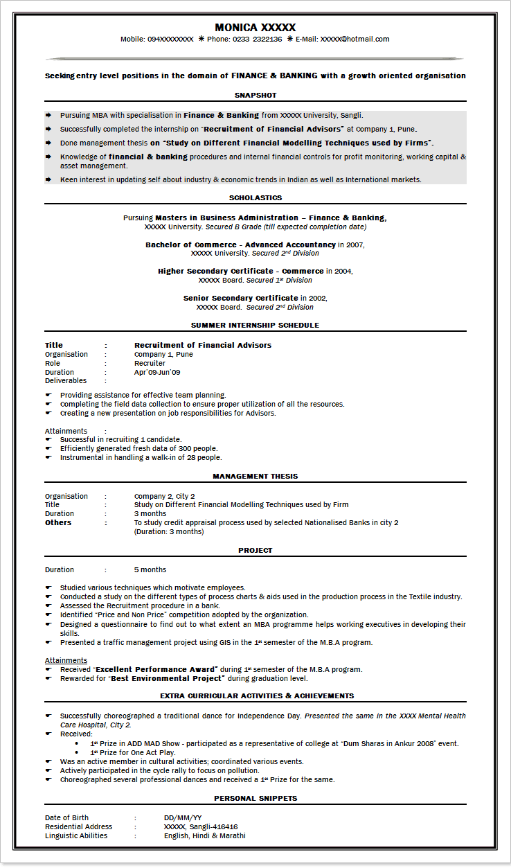 harvard business school resume best sample template download - Kellogg Resume Format