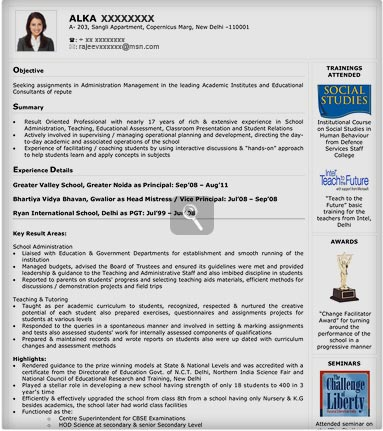 best resume format accountant india resume format for freshers resume