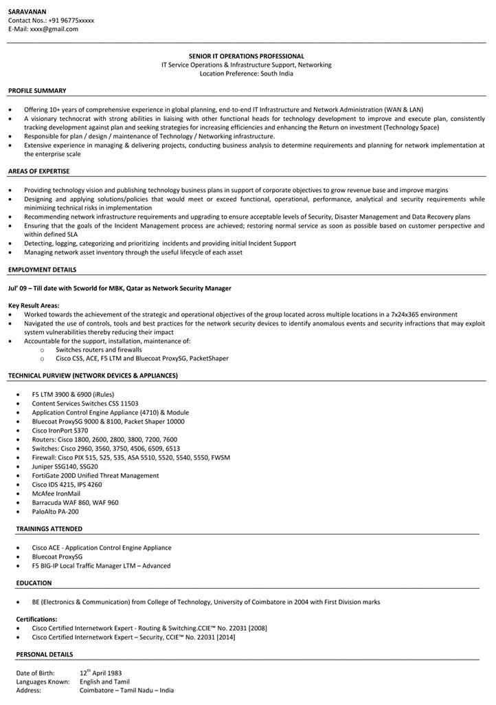 resume network engineer resume example sample resume resume cv