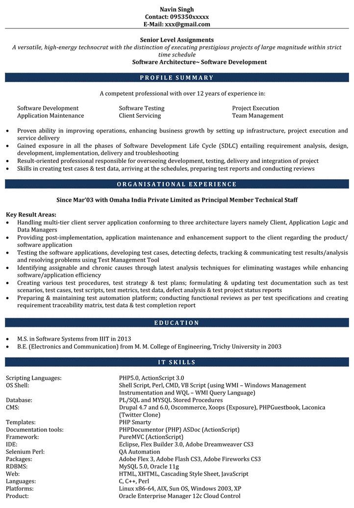 Sample Resume Format for Fresh - JobStreet Philippines