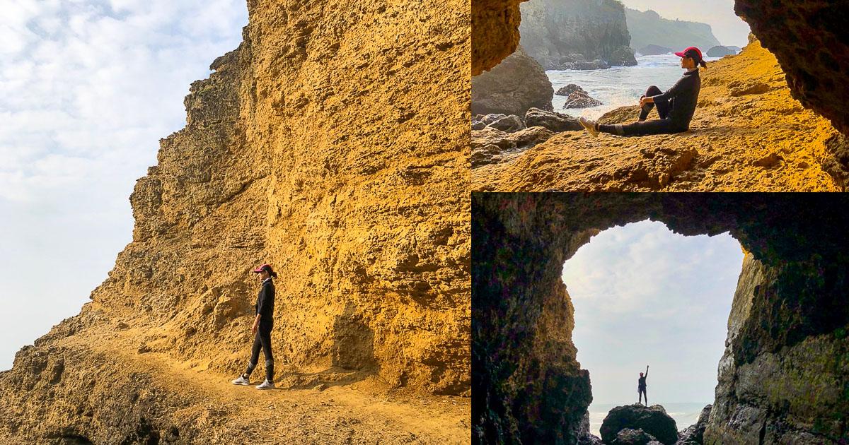 海蝕洞之天然美景海岸線美景,柴山秘境 X 海角咖啡