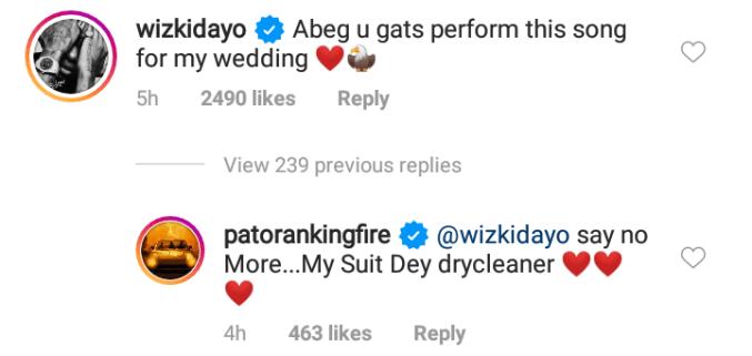 Perform at my wedding - Wizkid tells Patoranking