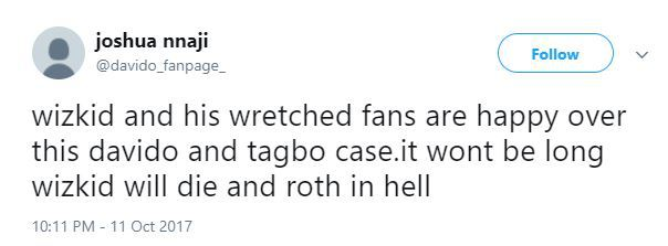 """Wizkid Davido 03 - """"Wizkid Will Know No Peace Until He Confesses How He Killed Tagbo"""" - Davido's Die Hard Fan Says On Twitter"""