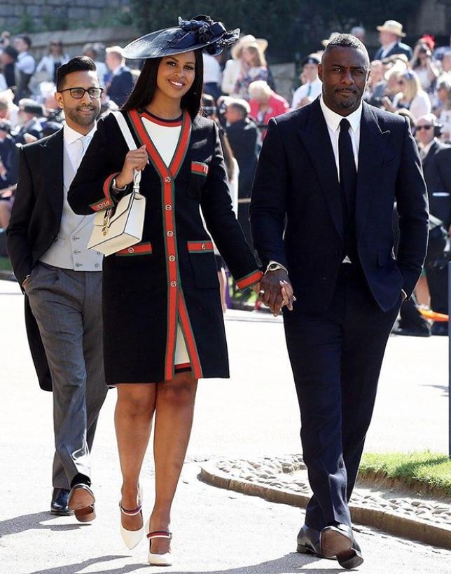Idris Elba and Sabrina Dhowre (Instagram/ @whowhatwear)