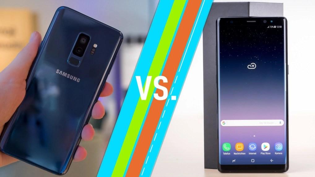 Galaxy S9 Plus Vs Note 8 Samsung Smartphones Im Vergleich Netzwelt