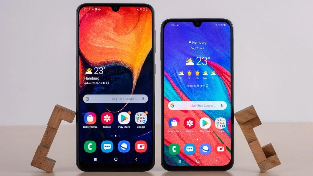 Galaxy A40 Vs A50 Unterschiede Der Samsung Handys Im Uberblick Netzwelt