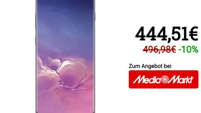 Samsung Galaxy S10 At Media Markt And Saturn For A Short Time At The Black Friday Price De24 News English