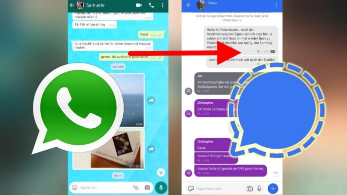 Overschakelen van WhatsApp naar Signal