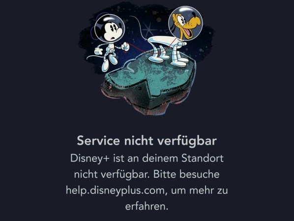 Disney +: German apps can't do anything until the start.