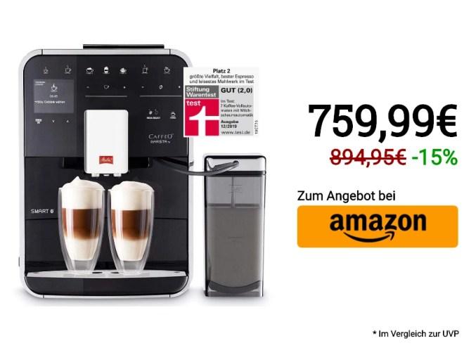 Melitta Caffeo Barista TS Smart F850-102, Kaffeevollautomat mit Milchbehälter, Smartphone-Steuerung