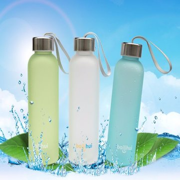 600ML Sports Camping Traveling Portable Frosted Water Bottle