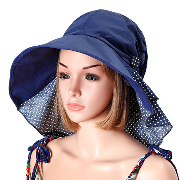 Women Summer Foldable Floppy Hat Anti-uv Beach Hats Casual Traveling Wide Brim Visor Bucket Hat