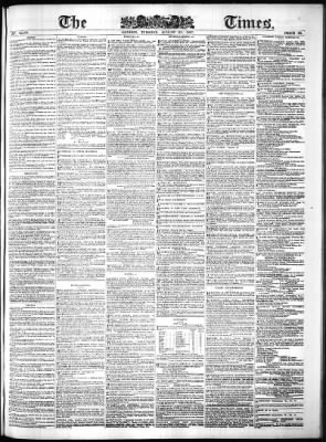 The Times From London Greater London England On August 30 1887