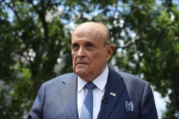 President Donald Trump's lawyer and former New York City Mayor Rudy Giuliani
