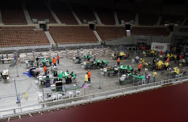 A general view of Veterans Memorial Coliseum