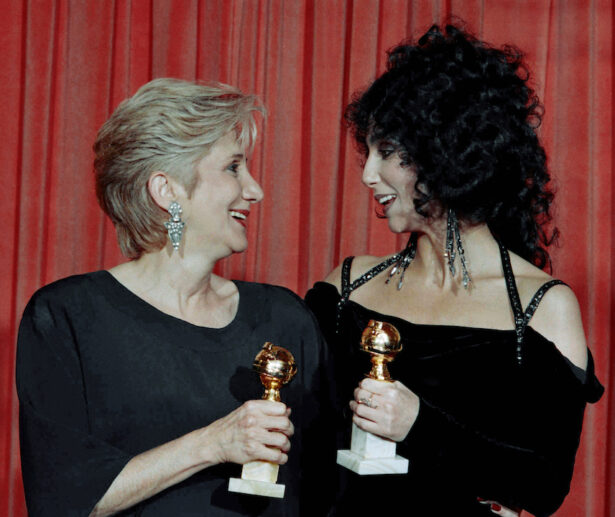 """Actress Olympia Dukakis, winner of a Golden Globe for """"Best Performance in a Supporting Role"""""""