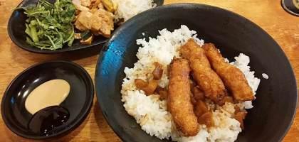【新竹美食】CP值高的金仙蝦捲飯,讓人吃完又想回味的好滋味