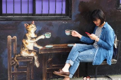 雲林、虎尾|頂溪社區屋頂上的貓 台灣原創彩繪村