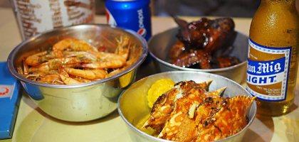 宿霧的雷店桶蝦 Bucket Shrimps