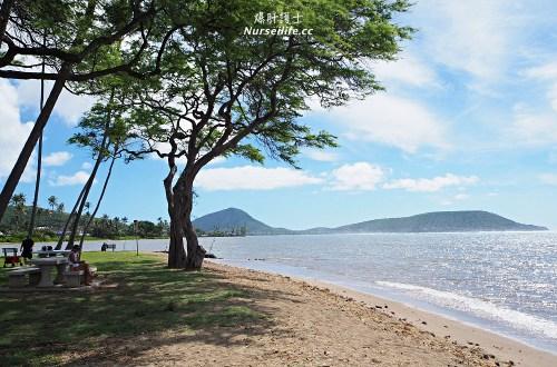 夏威夷、檀香山|Wailupe Beach Park 適合野餐的寧靜海灘