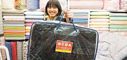 釜山 國際市場買棉被.棉花寢具打包超仔細