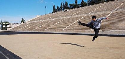 雅典帕那辛奈克體育場Panathenaic Stadium.第一屆奧林匹克運動會的舉辦地