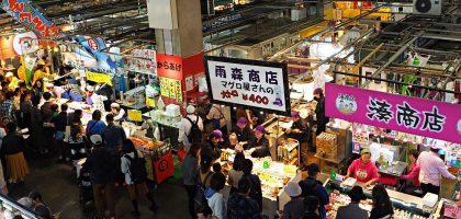 下關唐戶市場 假日限定的海鮮屋台.上百攤便宜壽司大口吃