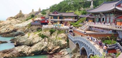 釜山 無敵海景的海東龍宮寺.韓國三大觀音聖地之一