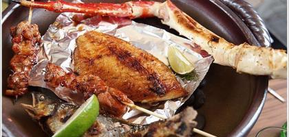 【台北中山】要吃什麼?我烤給你吃!!上引水產,炭道備長碳海鮮燒烤。