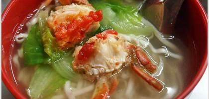 【基隆美食】在地人推薦美味蟹麵-基隆小A
