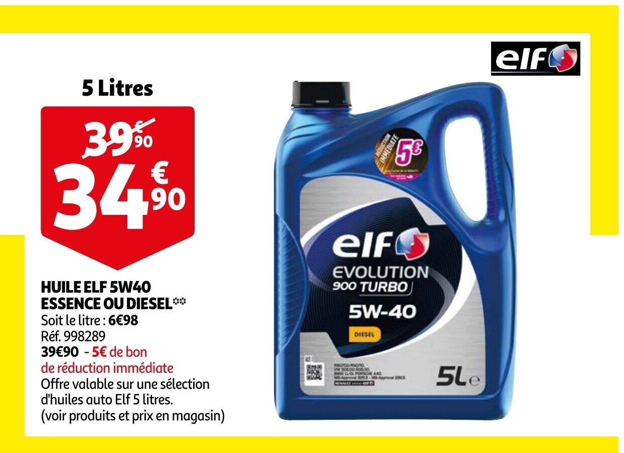 Promo Huile Elf 5w40 Chez Auchan