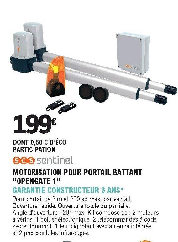 Promo Motorisation Pour Portail Battant Chez E Leclerc Brico