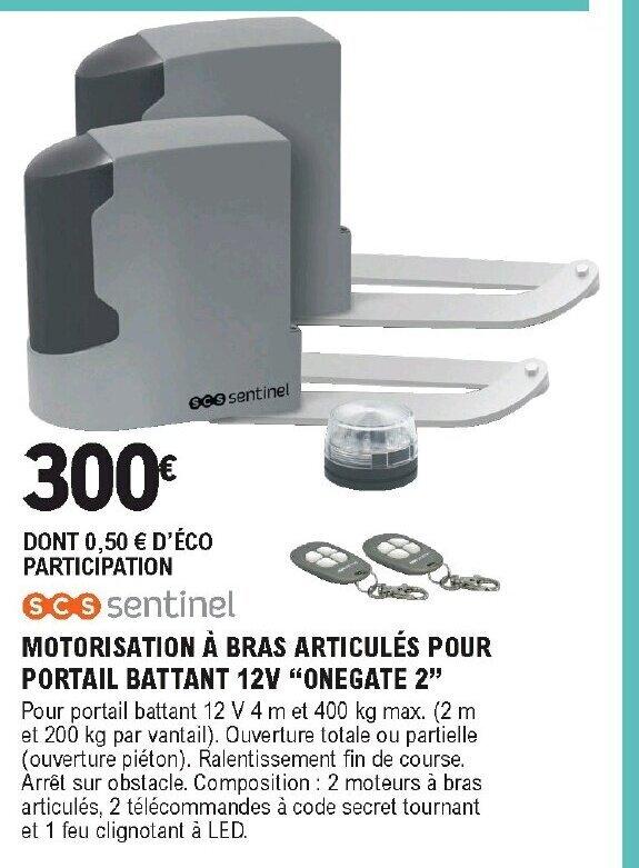 Promo Motorisation A Bras Articules Pour Portail Battant 12v Chez E Leclerc Brico