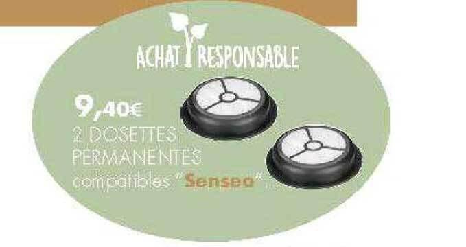 Promo 2 Dosettes Permanentes Compatibles Senseo Chez E Leclerc