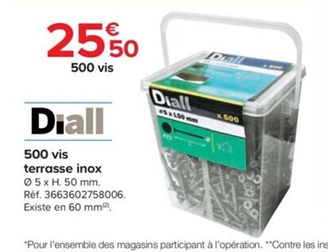 Promo 500 Vis Terrasse Inox Chez Castorama