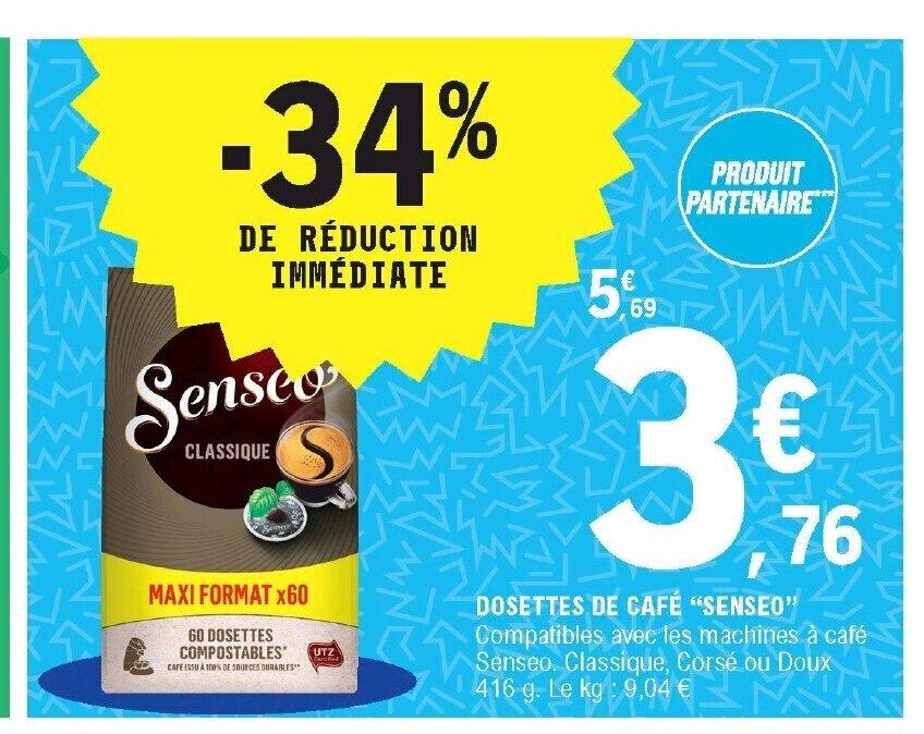 Promo Dosettes De Cafe Senseo Chez E Leclerc