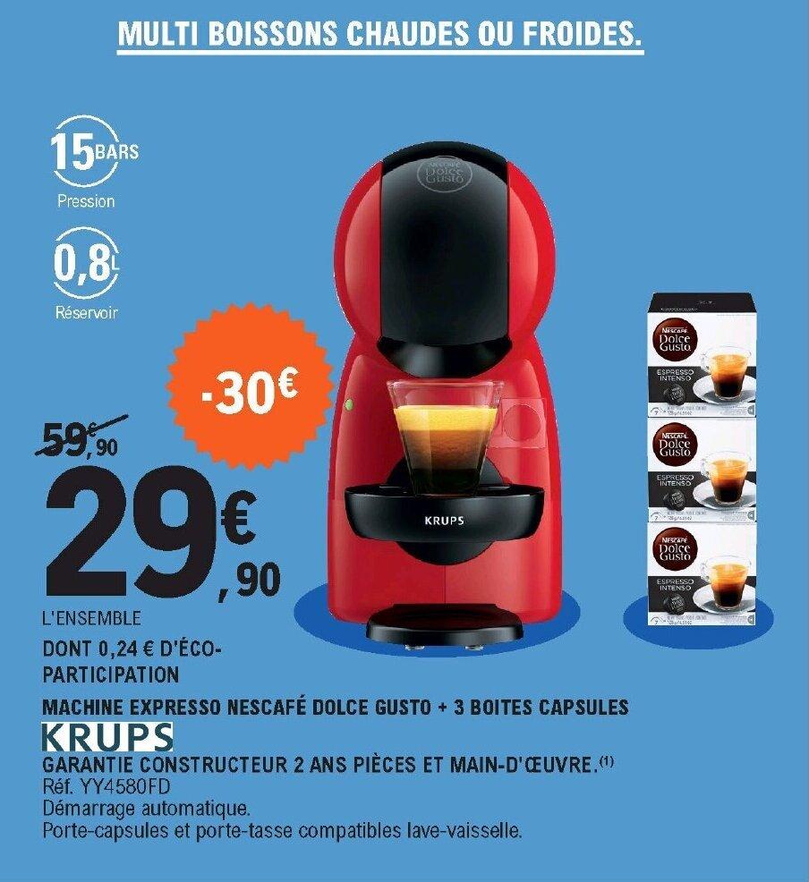 Promo Machine Expresso Nescafe Dolce Gusto Red Yy4580fd Chez E Leclerc