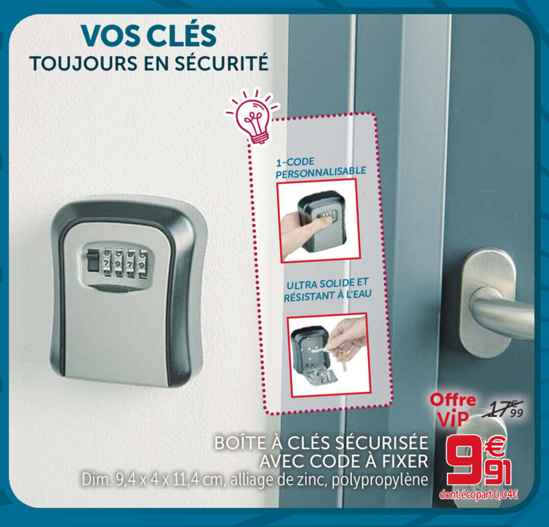 Promo Boite A Cles Securisee Avec Code A Fixer Chez Gifi