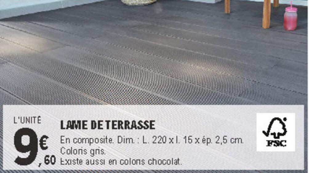 Promo Lame De Terrasse Chez E Leclerc Brico