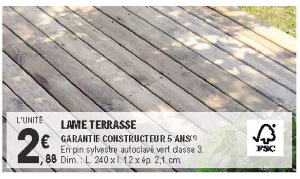 Promo Lame Terrasse Chez E Leclerc Brico