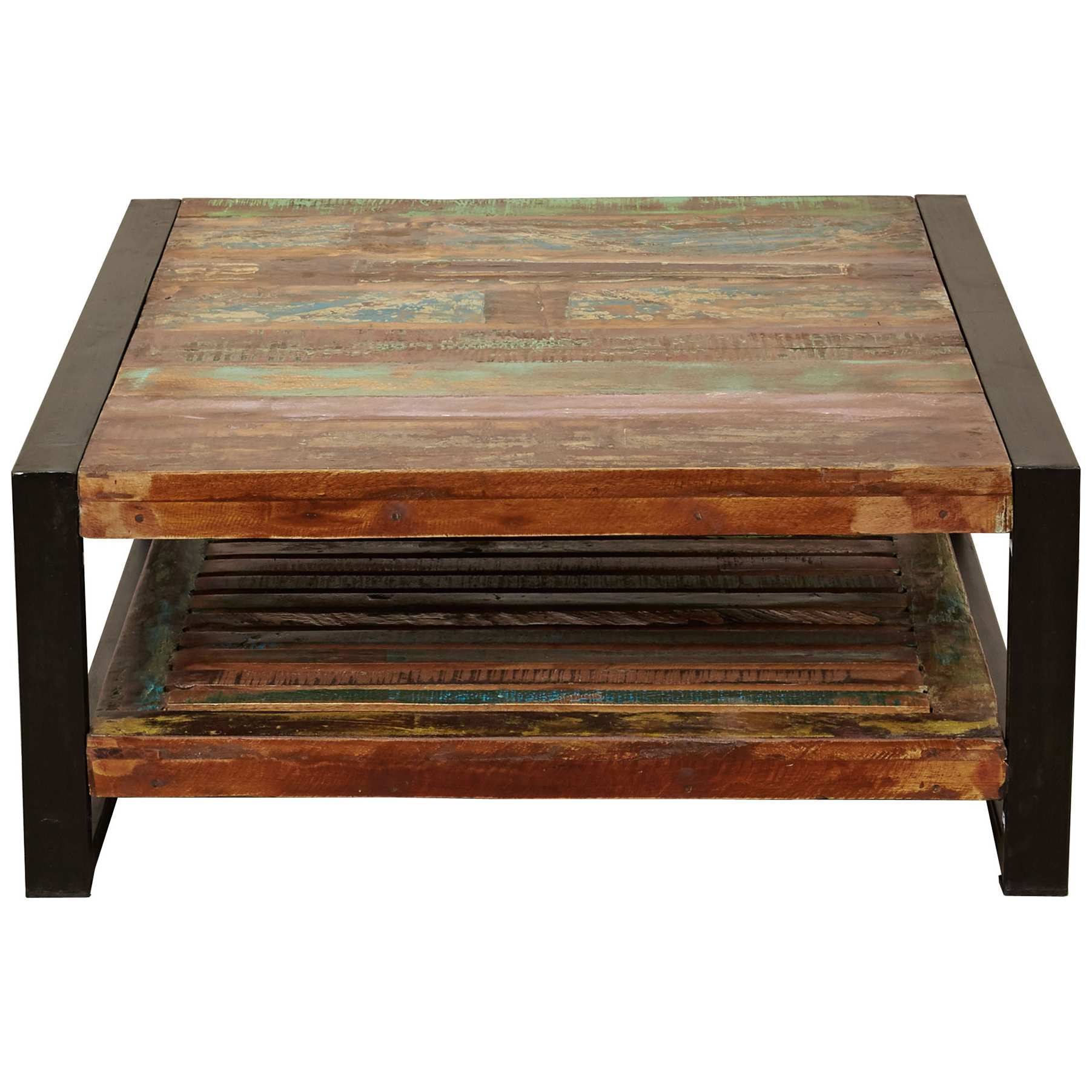 accrington reclaimed wood square coffee table