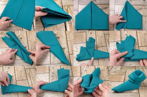 Table De Noel 20 Idees De Pliages De Serviettes