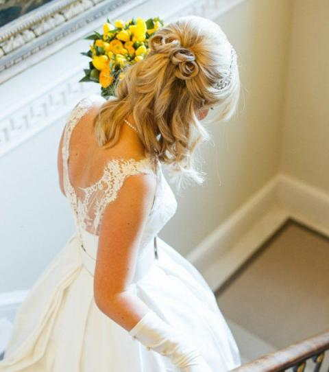Hochzeit Frisuren Schulterlanges Haar Mit Schleier Beliebte