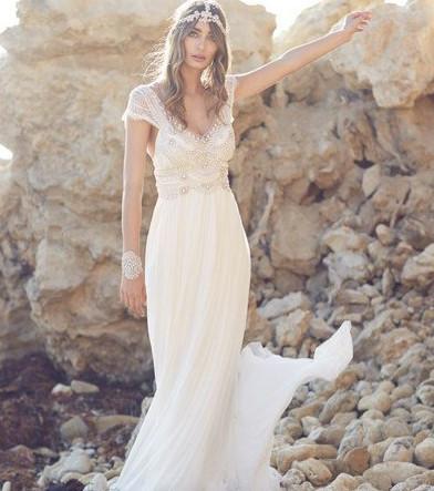 Bohemian Stil Brautkleid